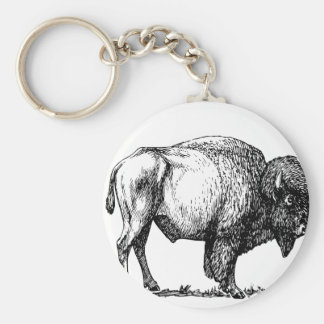 Chaveiro Bisonte americano do búfalo