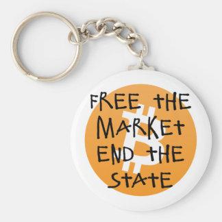 Chaveiro Bitcoin - livre a extremidade do mercado o estado