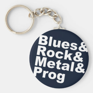 Chaveiro Blues&Rock&Metal&Prog (branco)