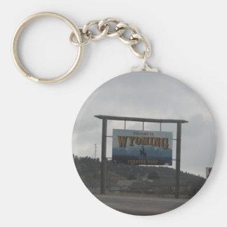 Chaveiro Boa vinda à corrente chave de Wyoming