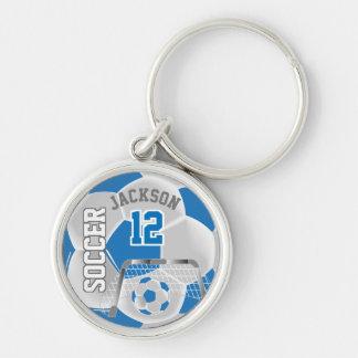 Chaveiro Bola de futebol azul & branca da equipe