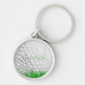 Chaveiro Bola de golfe personalizada na grama