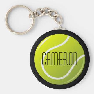 Chaveiro Bola de tênis fundo preto no nome personalizado