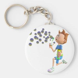 Chaveiro Bolhas de sopro do menino dos desenhos animados