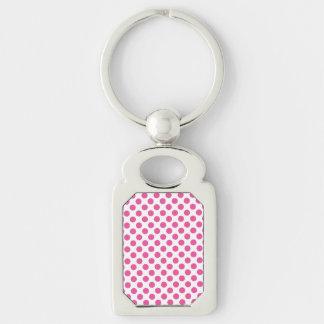 Chaveiro Bolinhas cor-de-rosa