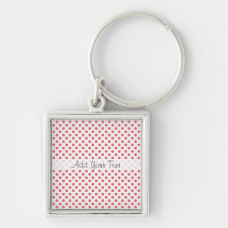 Chaveiro Bolinhas cor-de-rosa corais por Shirley Taylor