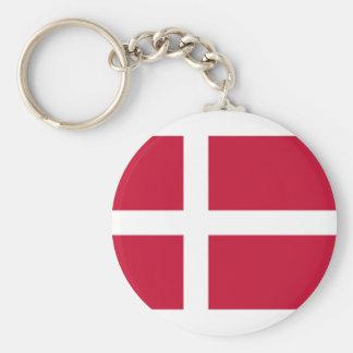Chaveiro Bom impressão da bandeira de Dinamarca da cor