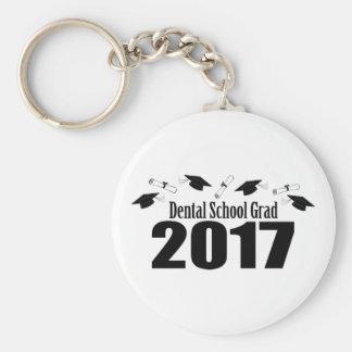 Chaveiro Bonés do formando 2017 da escola dental e diplomas