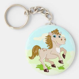Chaveiro bonito do cavalo dos desenhos animados do