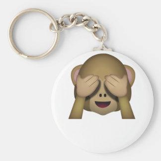 Chaveiro Bonito não veja nenhum macaco mau Emoji