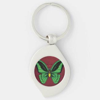 Chaveiro Borboleta de Birdwing dos montes de pedras