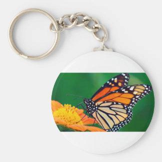 Chaveiro Borboleta de monarca bonita