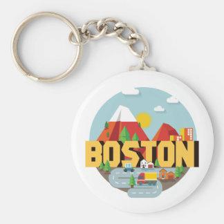 Chaveiro Boston como um destino