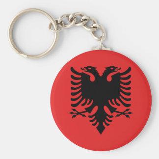 Chaveiro Botão albanês da bandeira