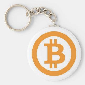 Chaveiro Botão oficial do logotipo de Bitcoin