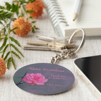 Chaveiro Brandamente anel chave Wedding personalizado rosa