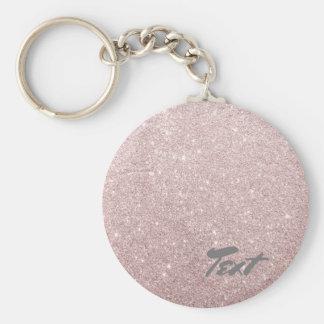 Chaveiro brilho cor-de-rosa elegante do ouro