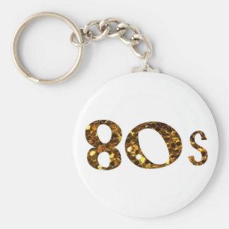 Chaveiro brilho do ouro da nostalgia 80s