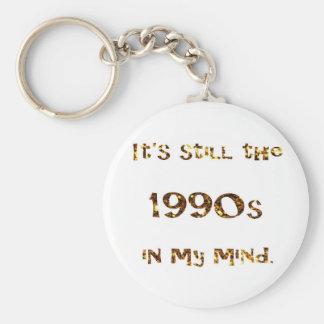 Chaveiro brilho do ouro da nostalgia dos anos 90