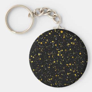 Chaveiro Brilho Stars3 - Preto do ouro