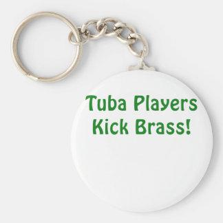 Chaveiro Bronze do pontapé dos jogadores da tuba