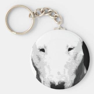 Chaveiro Bull terrier preto e branco