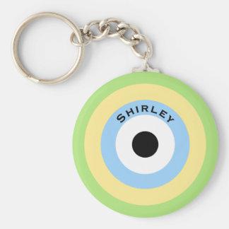 Chaveiro Bullseye verde da combinação por Shirley Taylor