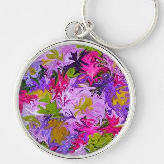Chaveiro Buquê do design floral da arte abstracta das cores