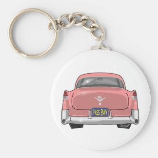 Chaveiro Cadillac 1955 cor-de-rosa