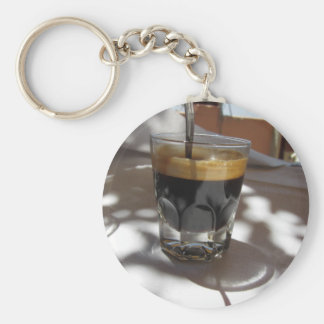 Chaveiro Café do café com a casca do rum, do açúcar e de