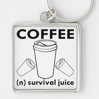 Chaveiro Café (n) suco da sobrevivência