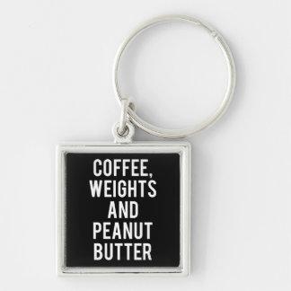 Chaveiro Café, pesos e manteiga de amendoim - novidade