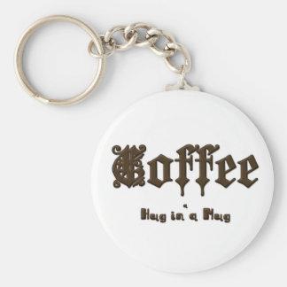 Chaveiro Café - um abraço em uma caneca    gótico