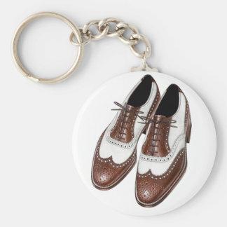 Chaveiro Calçados da forma dos homens da ponta de asa do