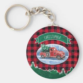 Chaveiro Caminhão do vintage do Natal personalizado