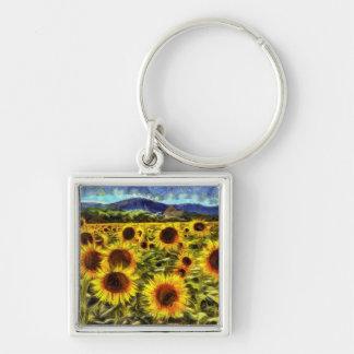 Chaveiro Campo Van Gogh do girassol