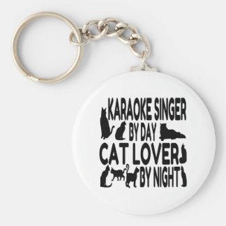 Chaveiro Cantor do karaoke do amante do gato
