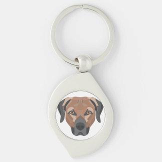 Chaveiro Cão Brown Labrador da ilustração