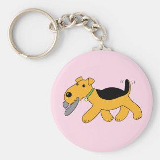 Chaveiro Cão de Airedale Terrier dos desenhos animados com