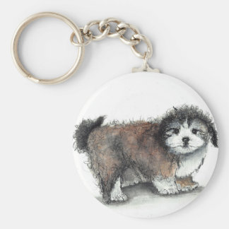 Chaveiro Cão de filhote de cachorro de Shihtzu, animal de