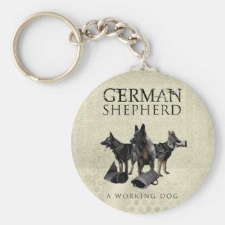 Chaveiro Cão de german shepherd de trabalho - GSD