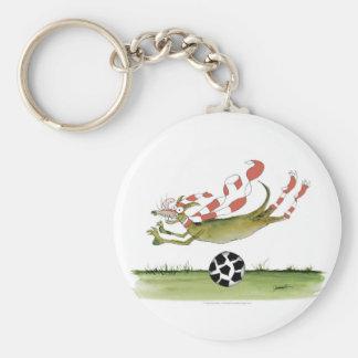 Chaveiro cão do futebol dos vermelhos