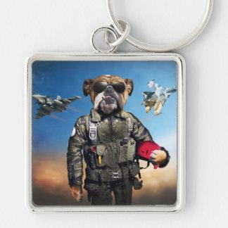 Chaveiro Cão piloto, buldogue engraçado, buldogue