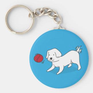 Chaveiro Cão que joga com uma bola
