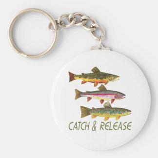 Chaveiro Captura e liberação de pesca da truta