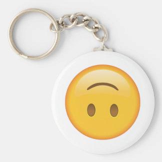 Chaveiro Cara de cabeça para baixo - Emoji