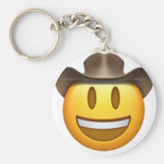Chaveiro Cara do emoji do vaqueiro