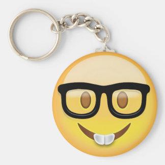 Chaveiro Cara Emoji do nerd