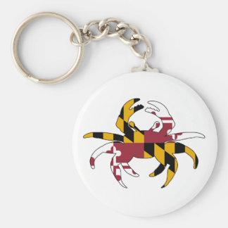 Chaveiro Caranguejo da bandeira de Maryland