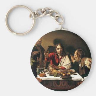 Chaveiro Caravaggio - ceia em Emmaus - pintura clássica